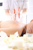 Japanese massage, relax in the spa Royalty Free Stock Images
