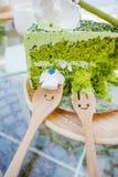 Japanese Matcha Green tea cake Stock Image