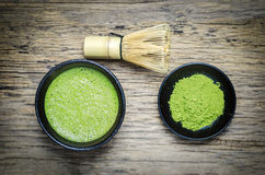 Japanese matcha green tea Royalty Free Stock Images
