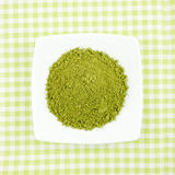 Japanese matcha green tea powder on the mini white dish Royalty Free Stock Photography