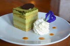 Japanese Matcha Greentea cake Royalty Free Stock Photo
