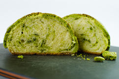 Japanese matcha melon bread Stock Photo