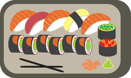 The Japanese meal vector illustration