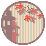 Japanese medallion 5. Round vector illustration based on Japanese design themes Stock Photos