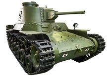 Japanese medium tank Type 97 ShinhoTo Chi-Ha 47mm  isolated whit Royalty Free Stock Photos