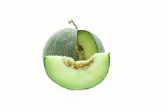 Japanese melon green isolated Stock Photo