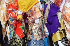 Japanese young men wearing traditional Kimono. Japanese men wearing traditional kimono for the coming of age day celebration Stock Image