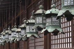 Japanese metal lanterns Royalty Free Stock Photography