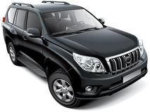 Japanese mid-size luxury SUV Royalty Free Stock Photos