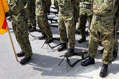 Japanese military base Stock Photo