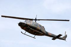 Japanese Military Helicopter In Flight Royalty Free Stock Images