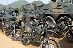 Japanese military motorcycle Stock Photo