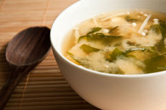 Japanese miso soup. Royalty Free Stock Image