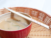 Japanese miso soup Royalty Free Stock Images