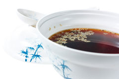 Japanese miso soup with sesame seeds Stock Photography
