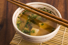Japanese miso soup Royalty Free Stock Image