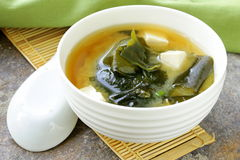 Japanese miso soup with tofu Stock Photography