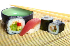 Japanese mix sushi Royalty Free Stock Photo