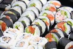 Japanese mix sushi Royalty Free Stock Photography