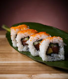 Japanese mix sushi, oriental cuisine colorful theme Stock Images