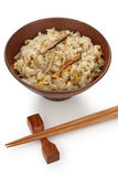 Japanese mixed rice , japanese food Royalty Free Stock Images