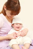 Japanese mom and her baby Stock Photo