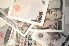 Japanese money banknotes Stock Photo
