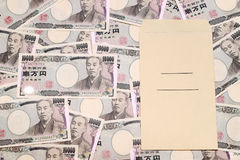 Japanese money and salary envelope Royalty Free Stock Photos
