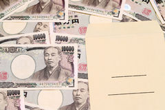 Japanese money and salary envelope Royalty Free Stock Photography