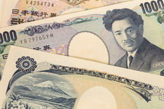 Japanese money yen banknote Stock Photography