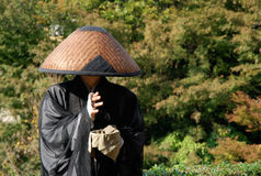 Japanese Monk Stock Photo