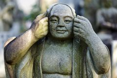 Japanese monk statue Royalty Free Stock Photo