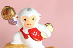 Japanese Monkey Ornament. The cute Japanese monkey ornament from the twelve zodiac signs stock image
