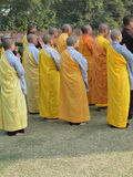 Japanese monks and nuns perform Buddhist rituals Royalty Free Stock Photography