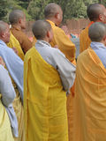 Japanese monks and nuns perform Buddhist rituals Royalty Free Stock Photos