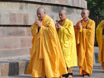 Japanese monks perform Buddhist rituals Royalty Free Stock Image