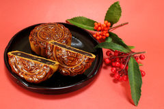 Japanese moon cake close up in the festival mood #2 royalty free stock images