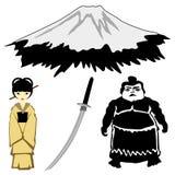 Japanese motives Stock Photography