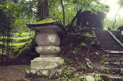 Japanese mountain temple Royalty Free Stock Photos