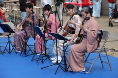 Japanese musicians Stock Photo