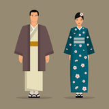 The Japanese national costume. Vector illustration Royalty Free Stock Photography