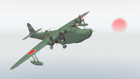 Japanese Navy flying boat of World War II Royalty Free Stock Images