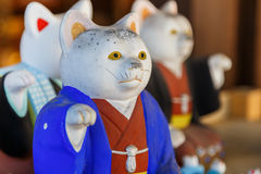 Japanese Neko Charms at Sumiyoshi Taisha Shrine in Osaka Royalty Free Stock Photo
