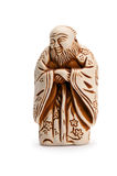 Japanese netsuke. On white background Stock Images