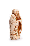 Japanese netsuke. On white background Royalty Free Stock Photography