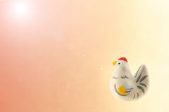 Japanese new year cock and sunlight background Stock Photography