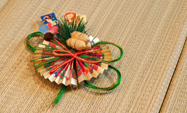 Japanese New Year Decoration. Traditional Japanese New Year Celebration Wall Decoration royalty free stock image