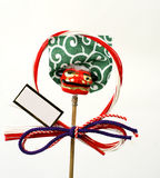 Japanese New Year decoration. Specific Japanese New Year decoration with copyspace for your message stock photos