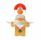 Japanese New year decoration. Specific Japanese New Year decoration isolated over white background royalty free stock photos