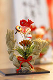 Japanese New Year decoration. Traditional Japanese New Year decoration on a street shop stand royalty free stock photo